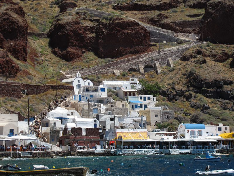 Amoudi Beach | Santorini island Greece