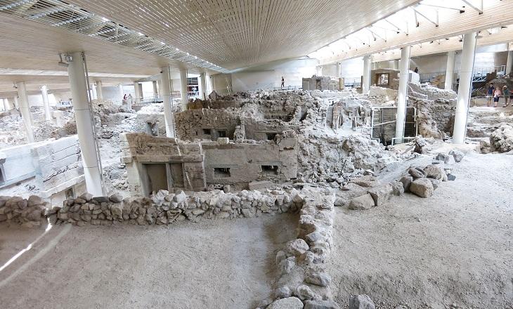 Akrotiri excavations | Santorini Island Greece