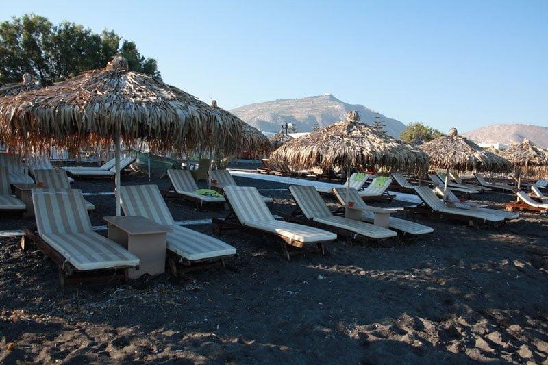 Perivolos beach Santorini island Greece