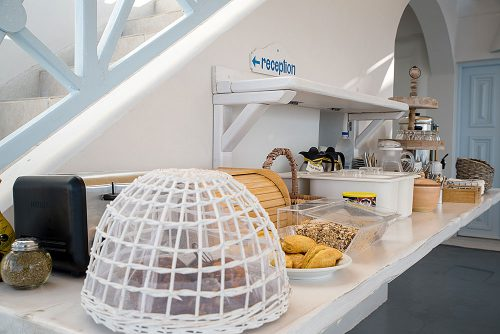Santorini Apartments & Suites   Best greek and international Breakfast