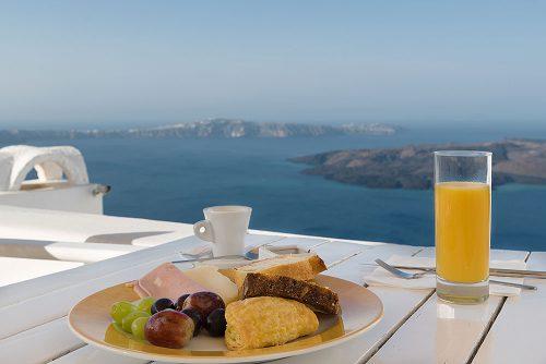 Santorini accommodation   Best greek and international Breakfast