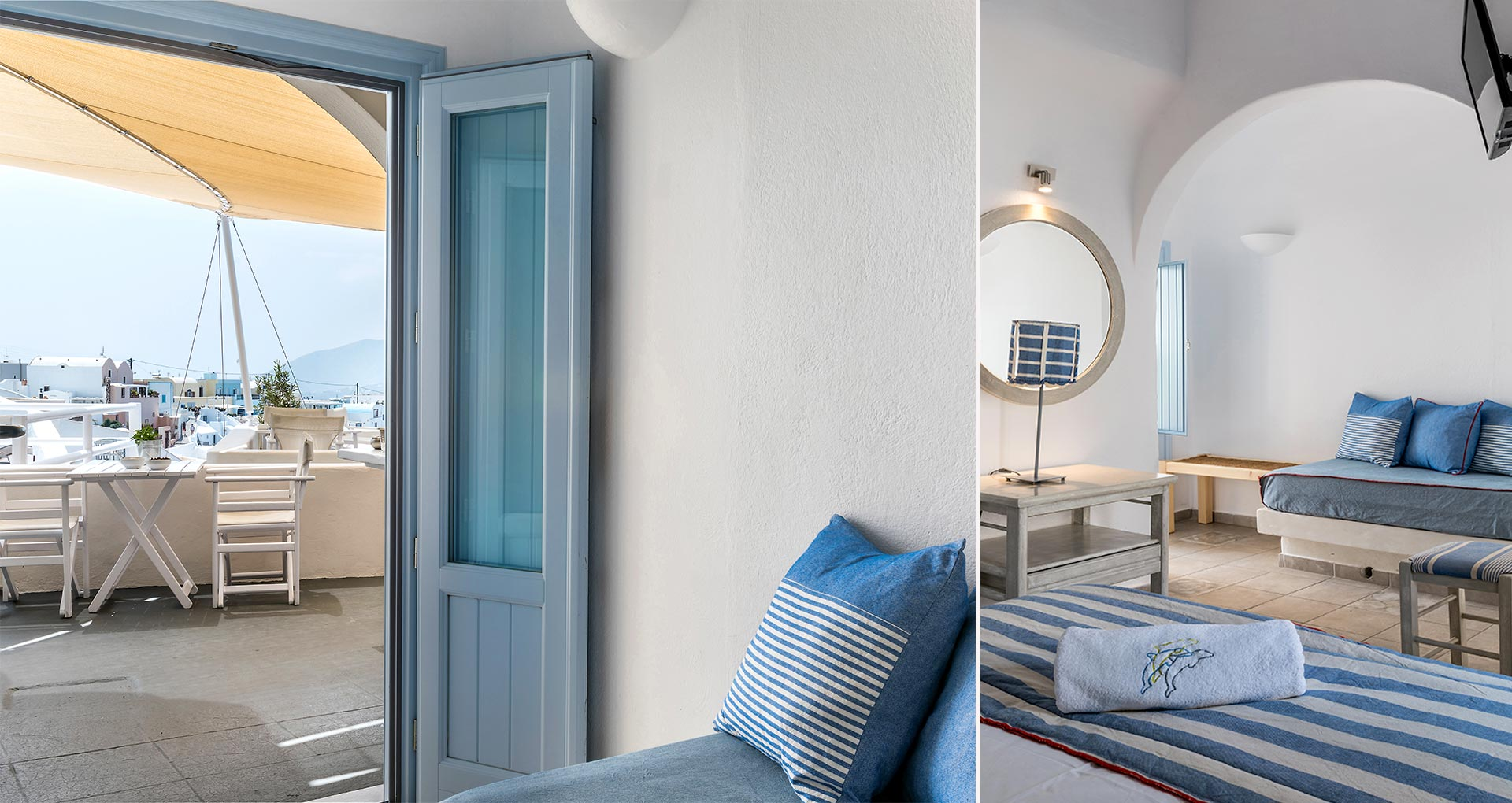 apartments santorini bluedolpins