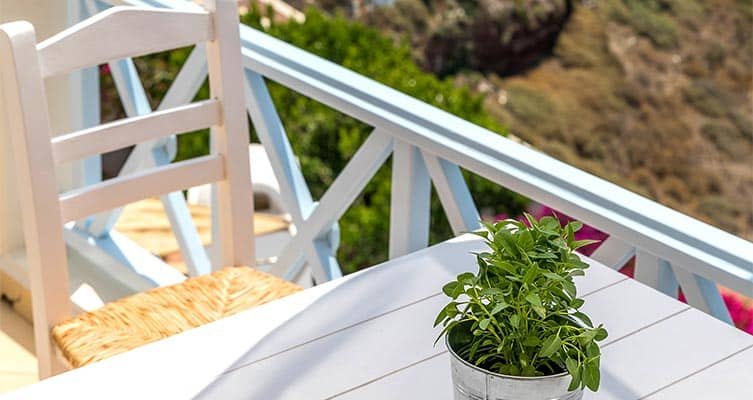 family suites with private balcony santorini bluedolpins part