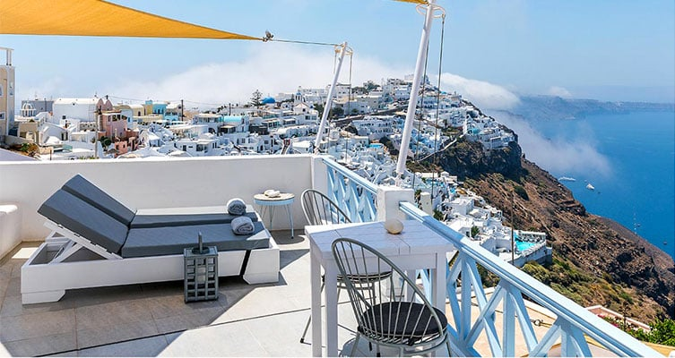 honeymoon suites apartmens santorini bluedolphins a