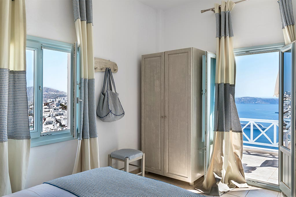 romantic suite with private balcony santorini bluedolphins 18