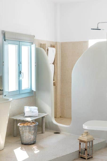 romantic suite with private balcony santorini bluedolphins 22