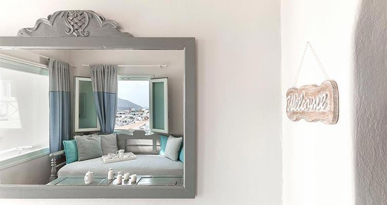 romantic suite with private balcony santorini bluedolphins part