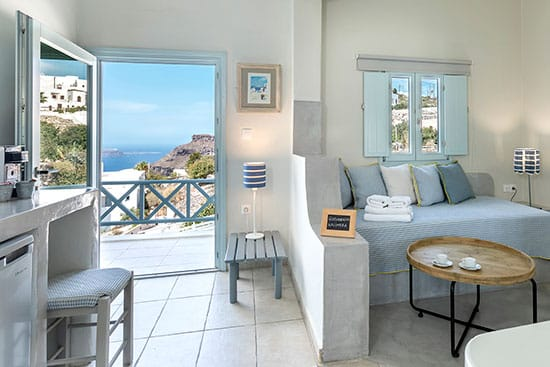 family suites with private balcony santorini bluedolpins h